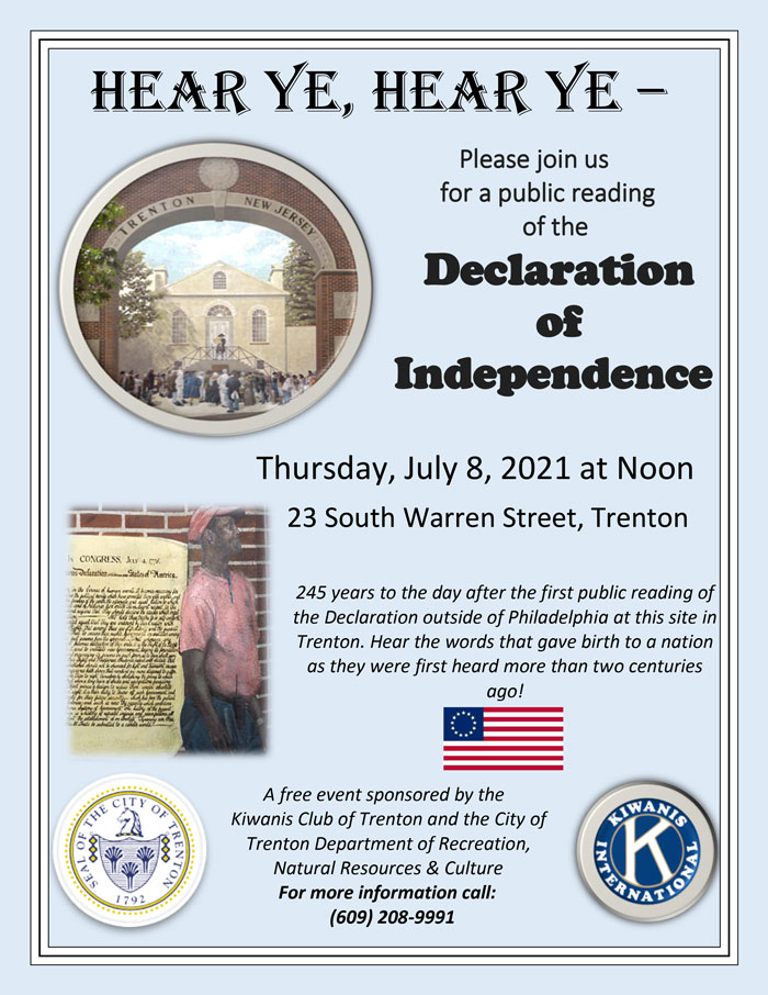Remembering TRENTON's public reading of the declaration of independence